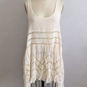 Free People Off White Trapeze Lace Voile Slip XS